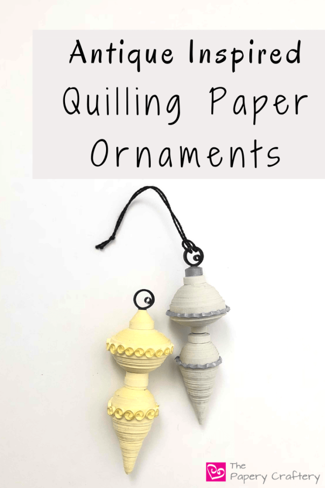 Antique Inspired Quilling Paper Ornaments - Use simple 3D quilling shapes to create classic ornaments for your tree || www.ThePaperyCraftery.com