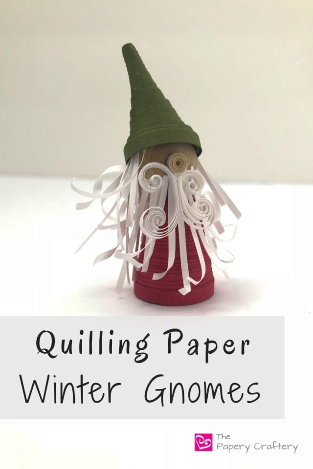 Quilling Paper Winter Gnomes - Simple shapes and bushy beards make adorable holiday friends || www.ThePaperyCraftery.com