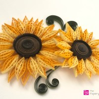 Quilling Paper Sunflowers