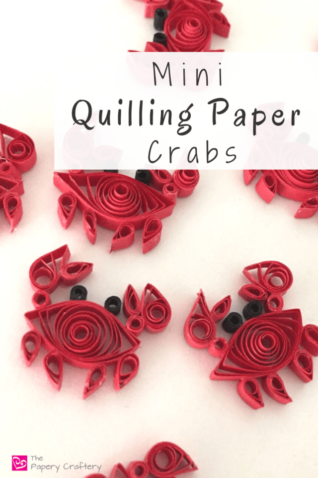 Mini Quilling Paper Crabs - Teeny paper crabs are the perfect quilling craft for beginners | ThePaperyCraftery.com