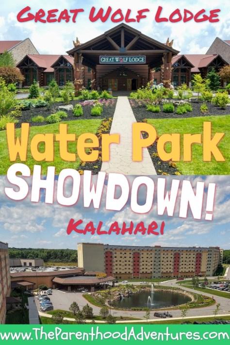 Pinterest Pin Poconos Waterpark Showdown Great Wolf Lodge versus Kalahari