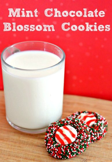Mint Chocolate Blossom Cookies