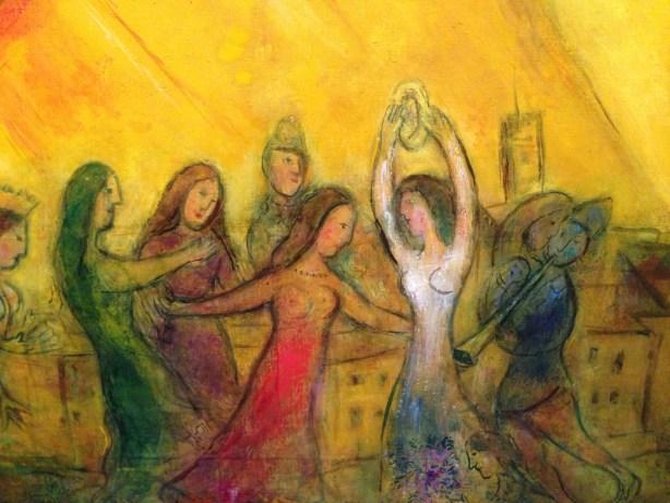détail de LA Danse - Chagall