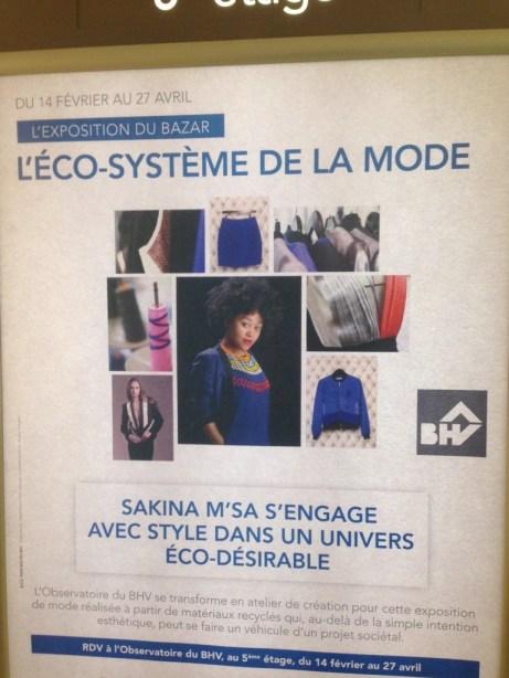 eco système de la mode au BHV