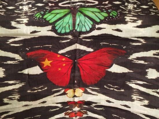 Sashaberry - étole papillons