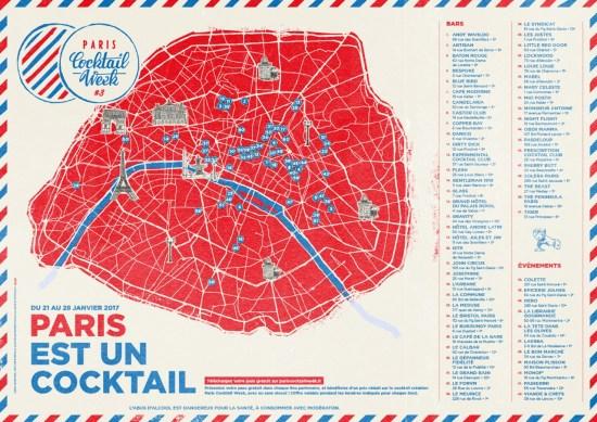 Paris Cocktail Week - la carte des lieux