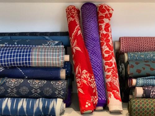 Soieries pour kimonos du Japon