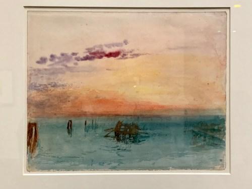 Venise - vue sur la lagune au coucher du soleil 1840