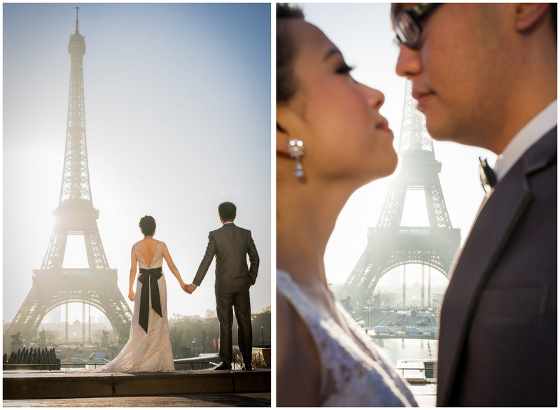 Pre wedding photo session in Paris sunrise 2