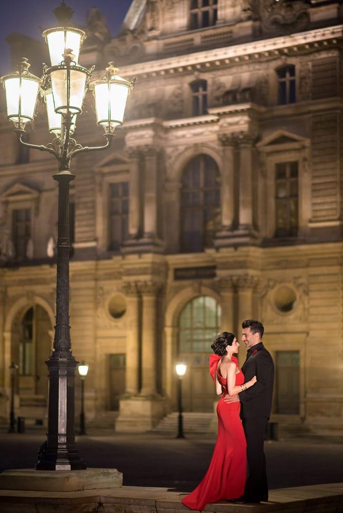 Romantic Paris Night Photoshoot