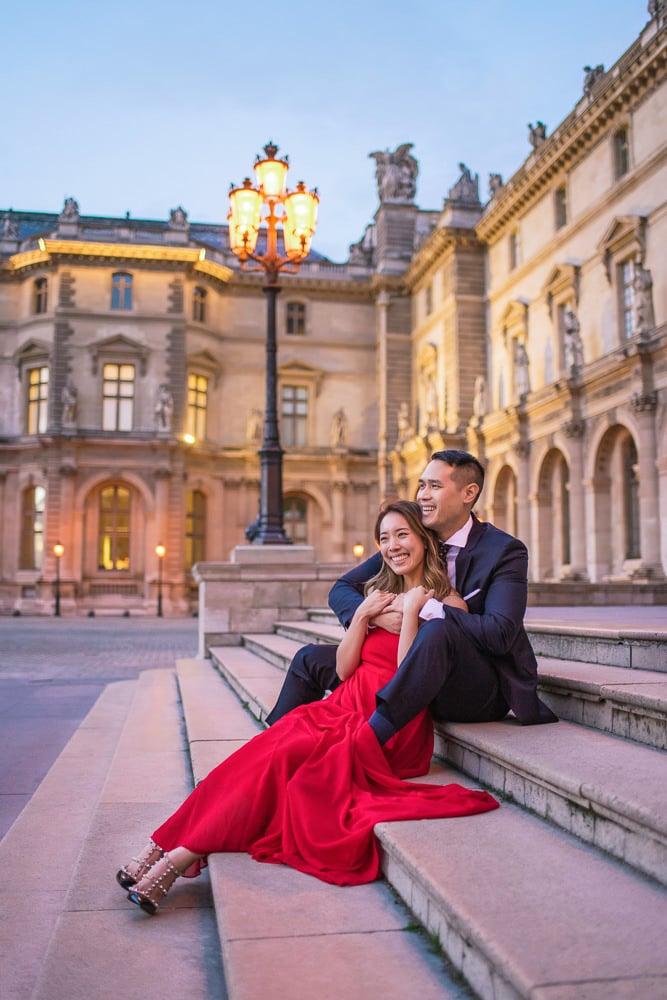 Paris Night Photoshoot Portraits