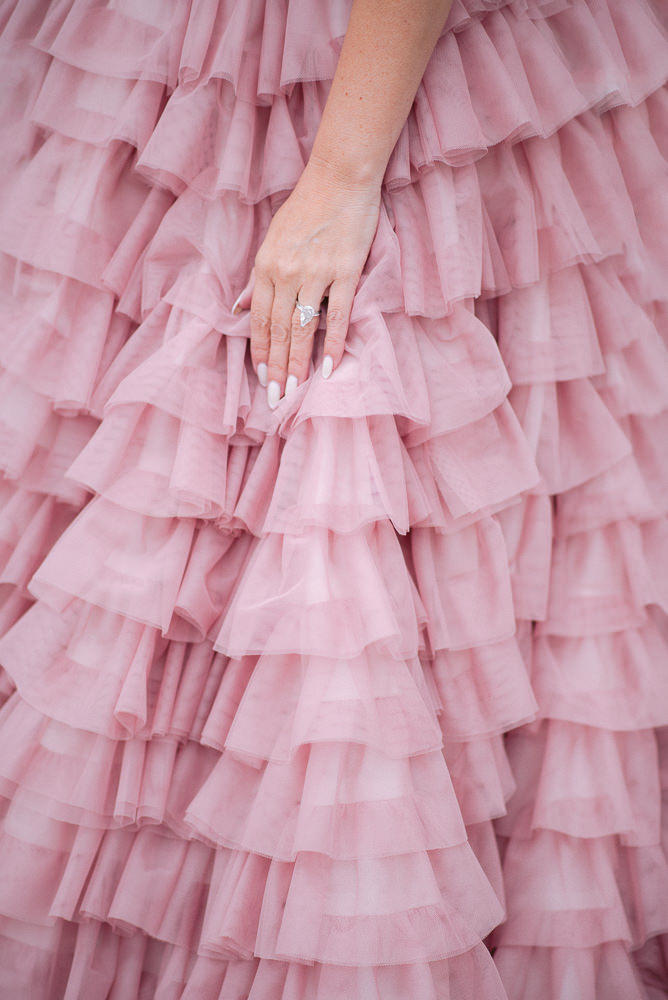 clothing ideas for family photos pink couture dress