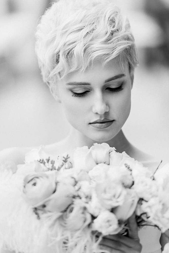 8. Beautiful bride posing during a bridal hasion portrait photo shoot - make-up by Onorina Jomir beauty and photo by The Paris Photographer