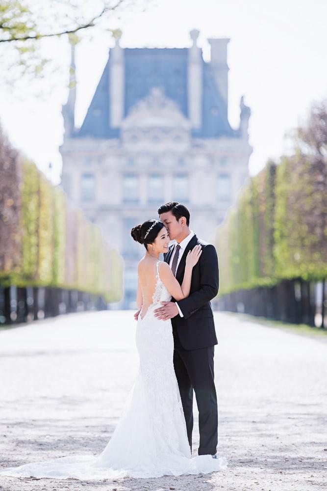 pre wedding location in paris the tuileries gardens