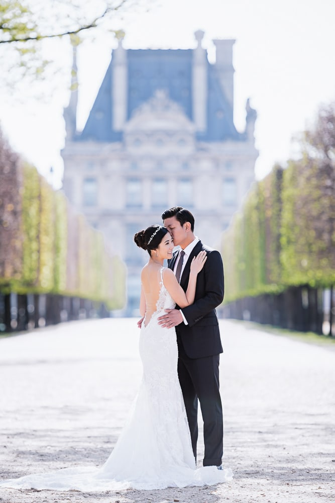 pre wedding location in paris the tuileries gardens