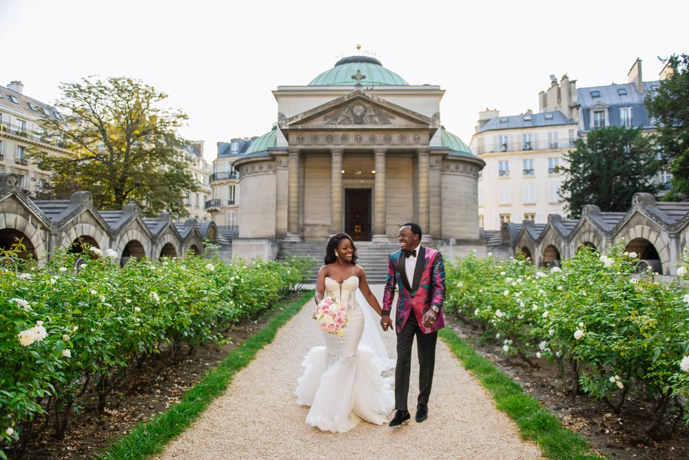 Plaza Athenee Paris Wedding - Chapelle Expiatoire ceremony -11
