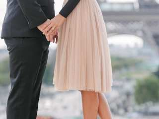Detail photo of nude christian louboutin shoes and pink tutu dress
