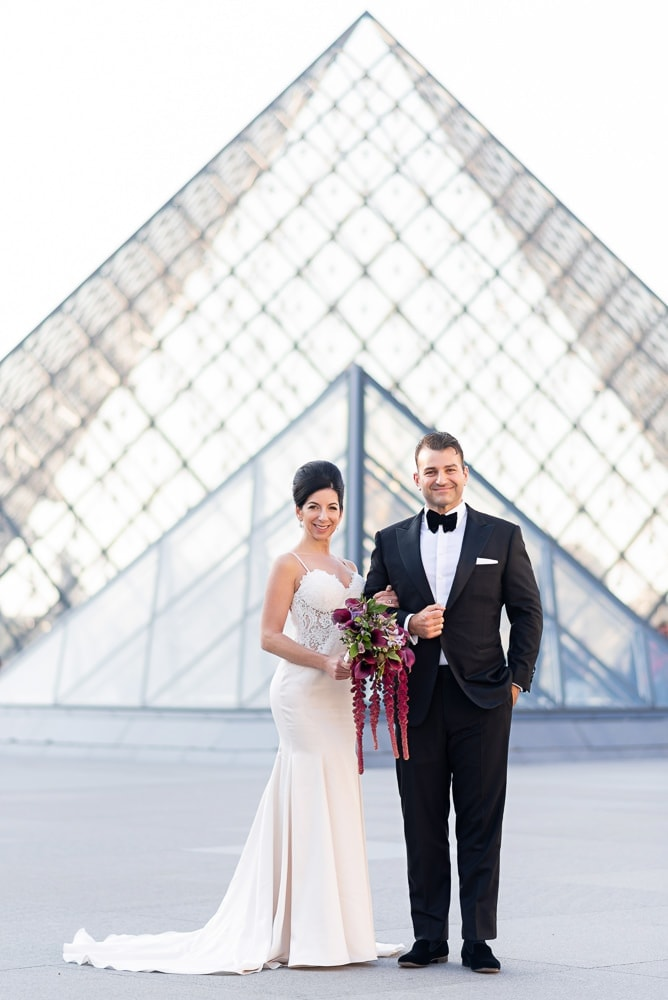 Hotel Crillon Paris wedding – Louvre Museum portraits -5