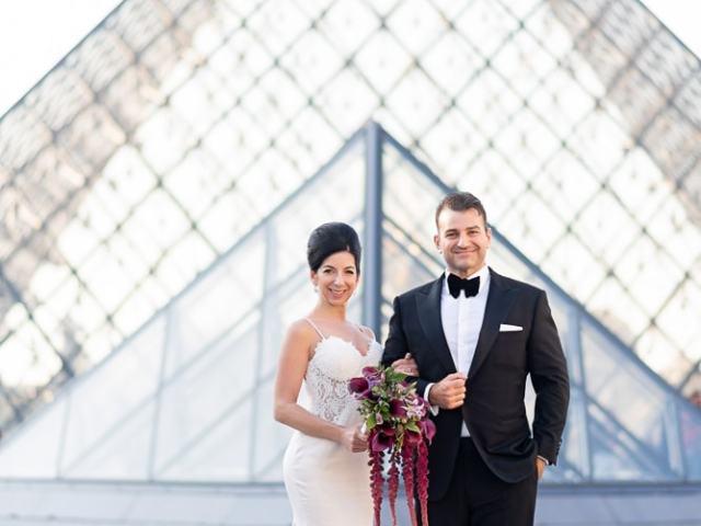 Hotel Crillon Paris wedding – Louvre Museum portraits -5