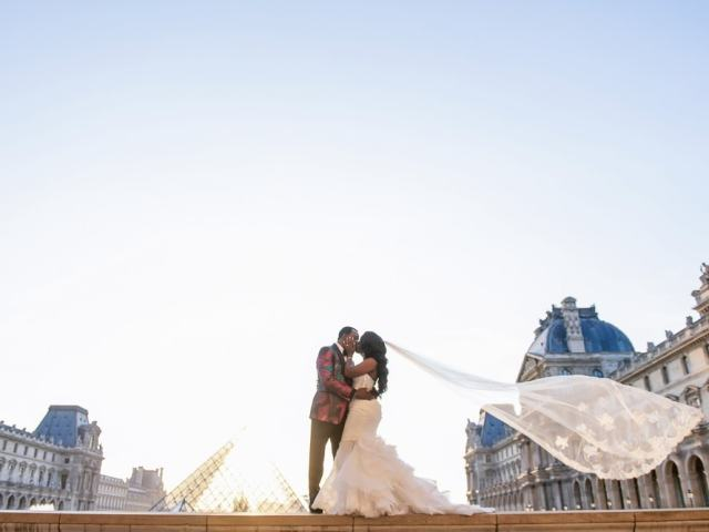 Plaza Athenee Paris Wedding – couples portraits Louvre Museum-4