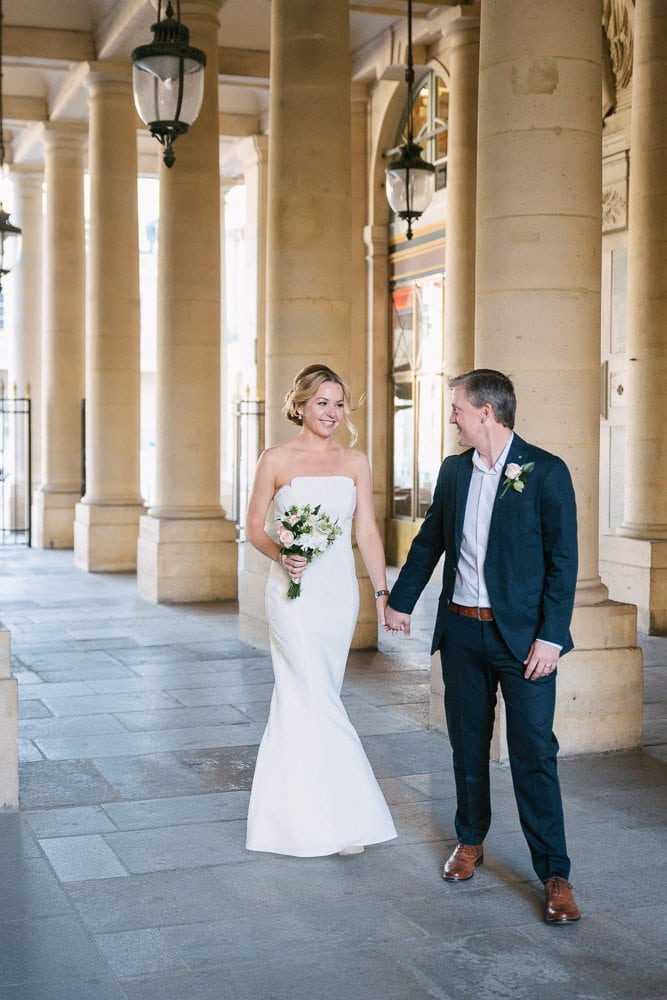 Wedding photographer France - Middle age couple eloping in Paris
