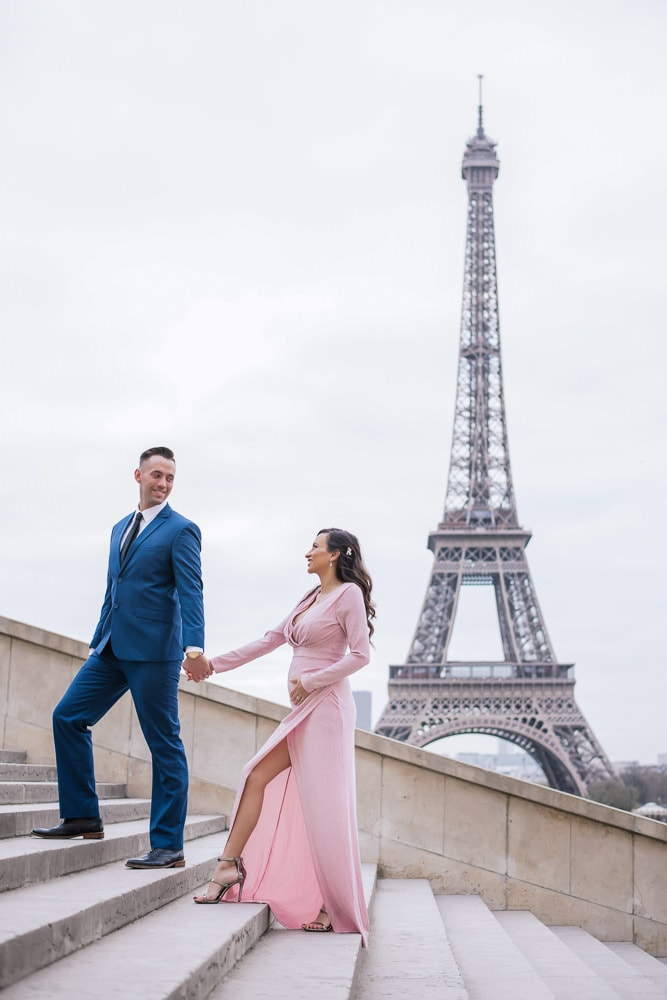 Maternity Photo Shoot in Paris by The Paris Photographer