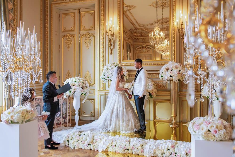 Celebrant in Paris - Wedding in Paris at Shangri La Hotel