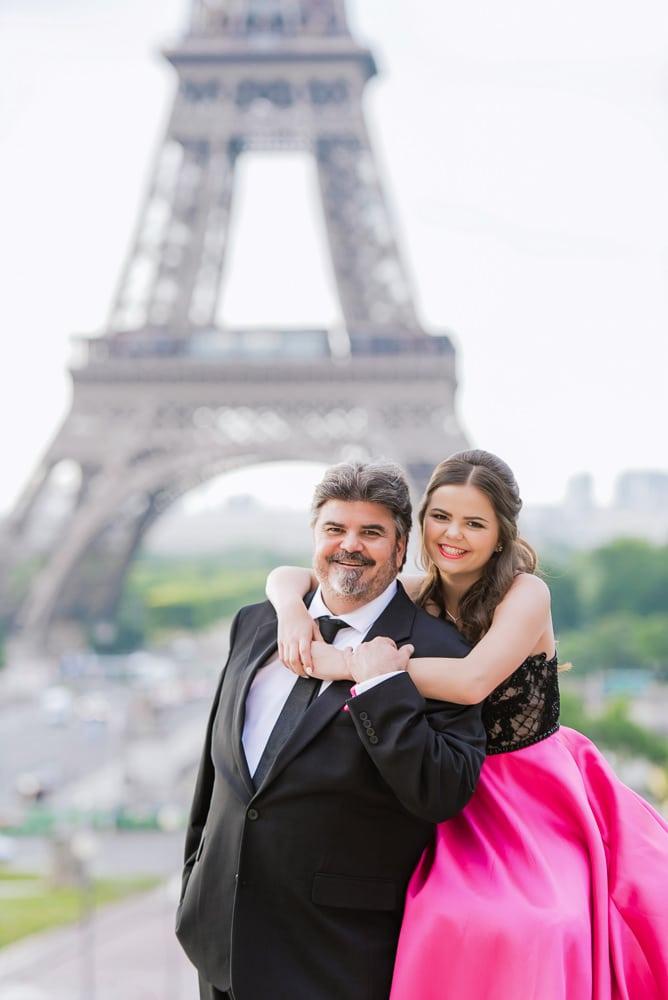 Father and Daughter Quinceanera Paris Photo Shoot