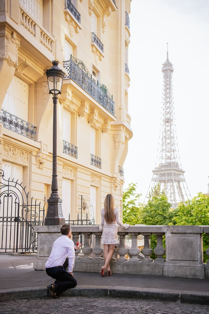 Quiet spot to propose with the Eiffel Tower in view
