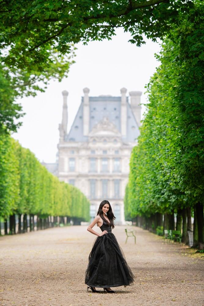 quinceanera photo session - Parisian garden
