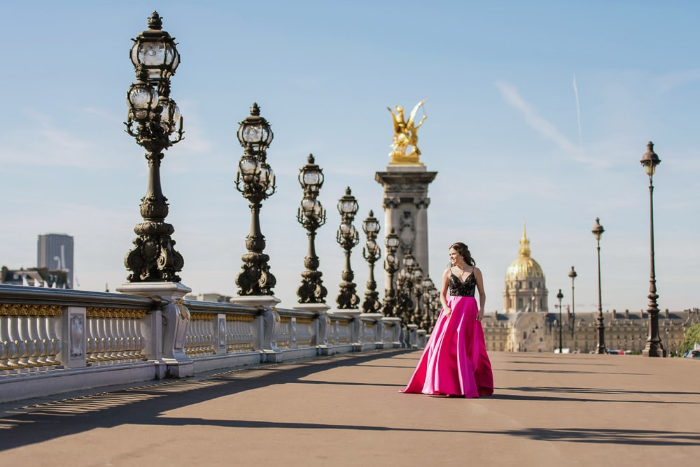 quinceanera photo session in paris france