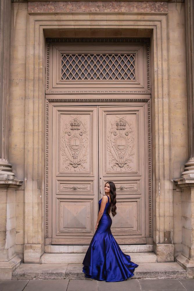 quinceanera photos ideas blue dress Paris