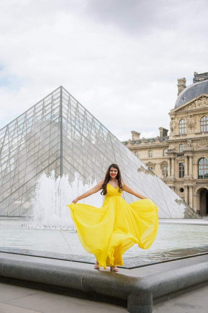 quinceanera yellow dresses in paris, france