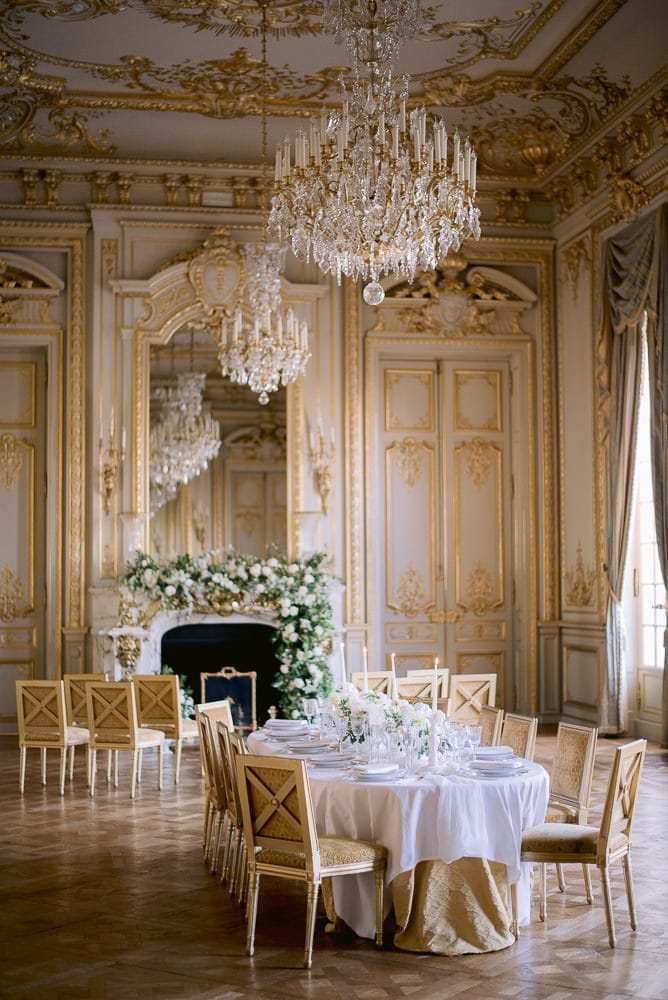 Paris wedding decor 2020 at Shangri La Paris
