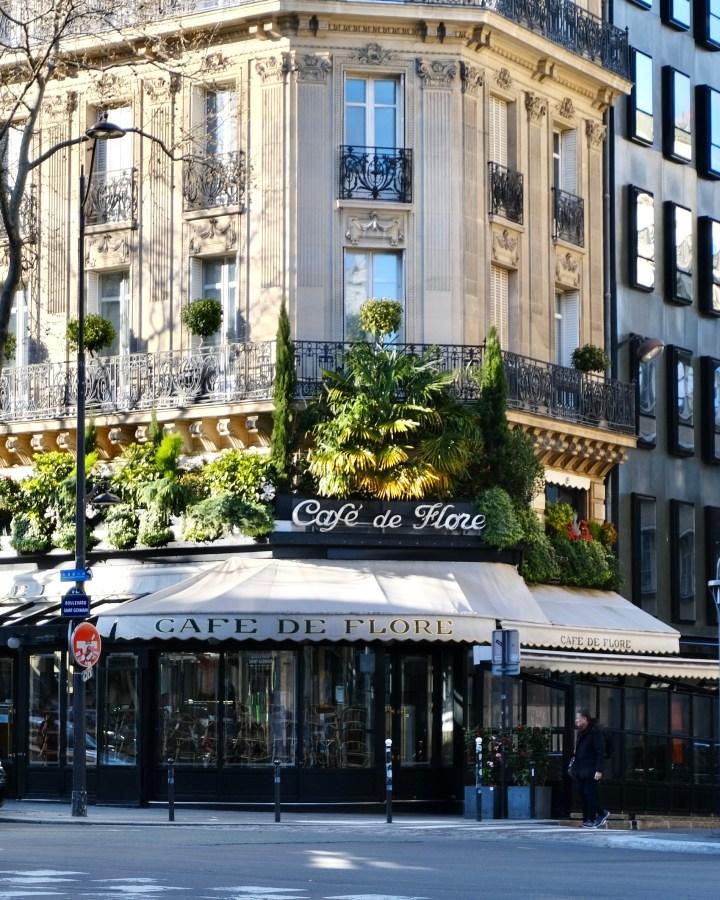 Cafe de flore Paris during the coronavirus health crisis