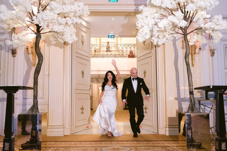 The grand entrance is an important wedding tradition in France
