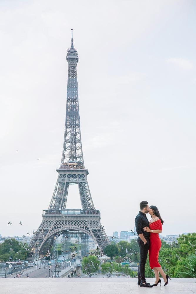Eiffel Tower sunrise surprise proposal 1