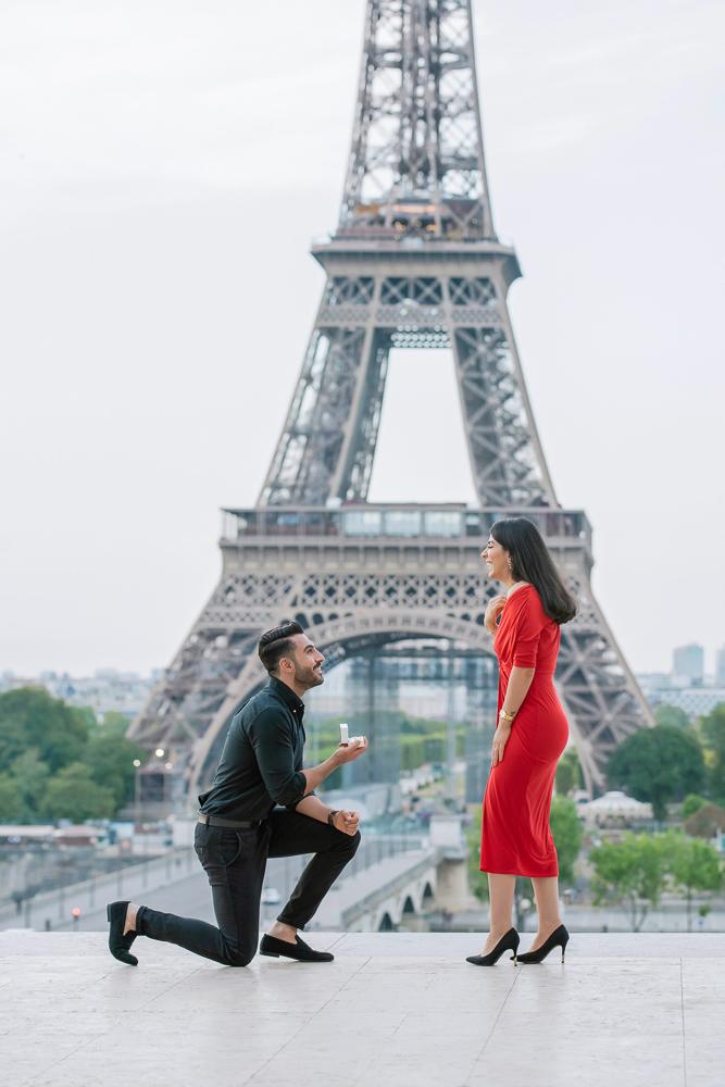 Eiffel Tower sunrise surprise proposal 13
