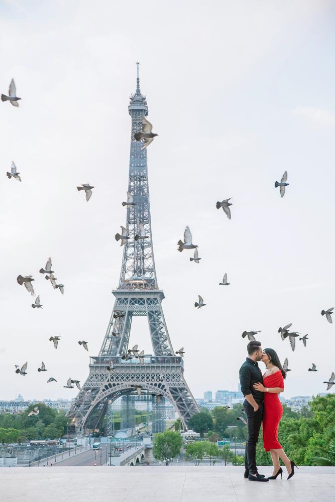 Eiffel Tower sunrise surprise proposal 2