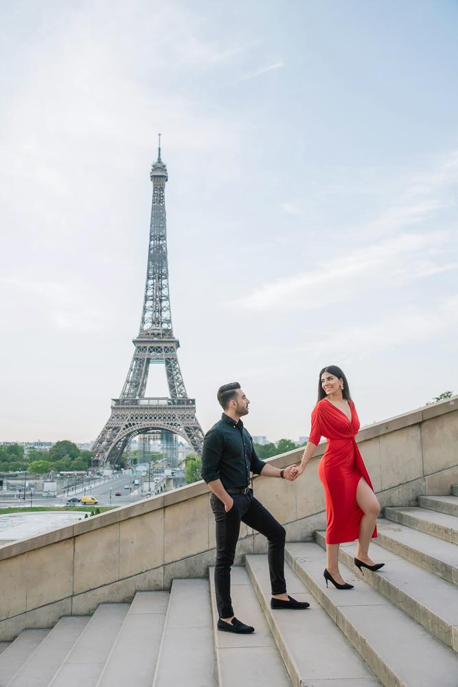 Eiffel Tower sunrise surprise proposal 21