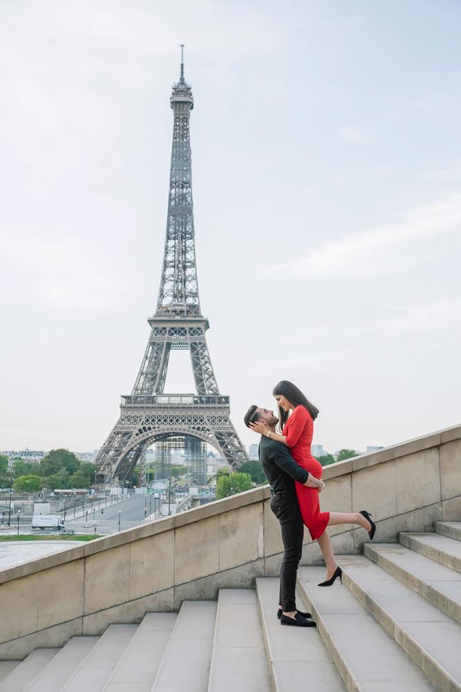 Eiffel Tower sunrise surprise proposal 23