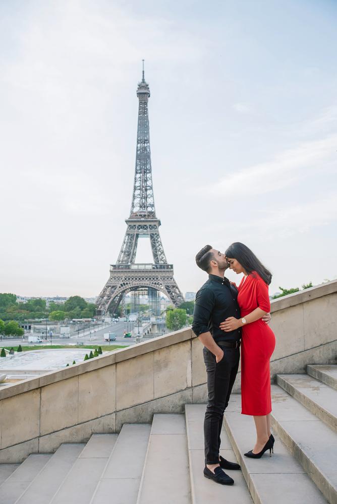 Eiffel Tower sunrise surprise proposal 24