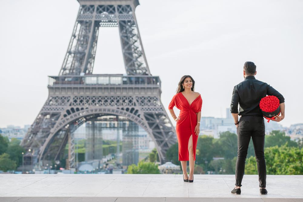 Eiffel Tower sunrise surprise proposal 30