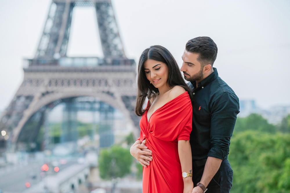 Eiffel Tower sunrise surprise proposal 8