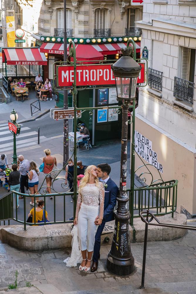 Paris France elopement 44