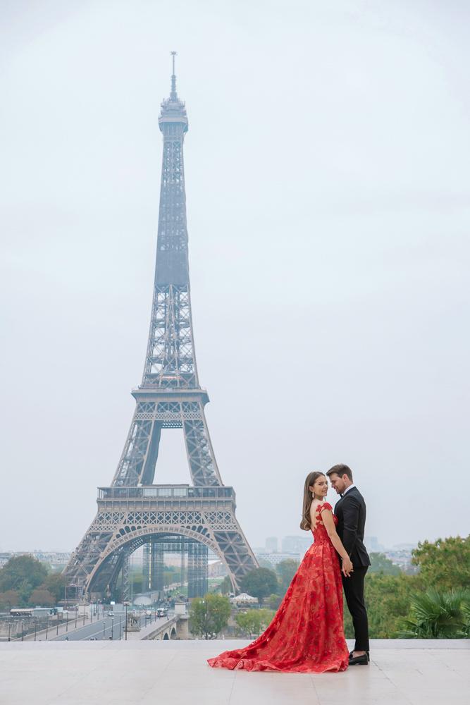 Winter wedding photoshoot in Paris by Pierre 10