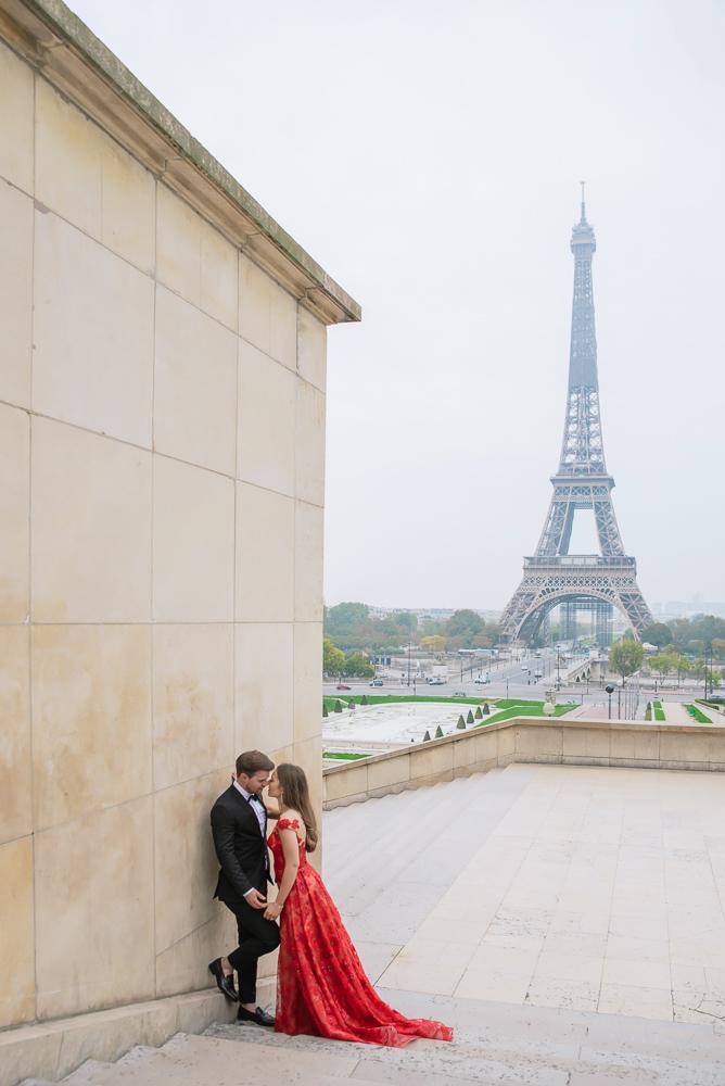 Winter wedding photoshoot in Paris by Pierre 20