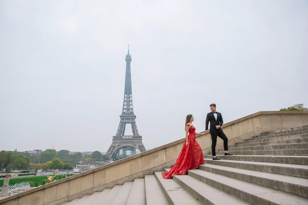 Winter wedding photoshoot in Paris by Pierre 22