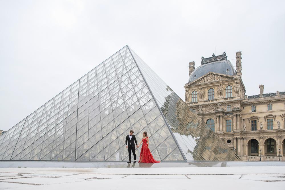Winter wedding photoshoot in Paris by Pierre 35