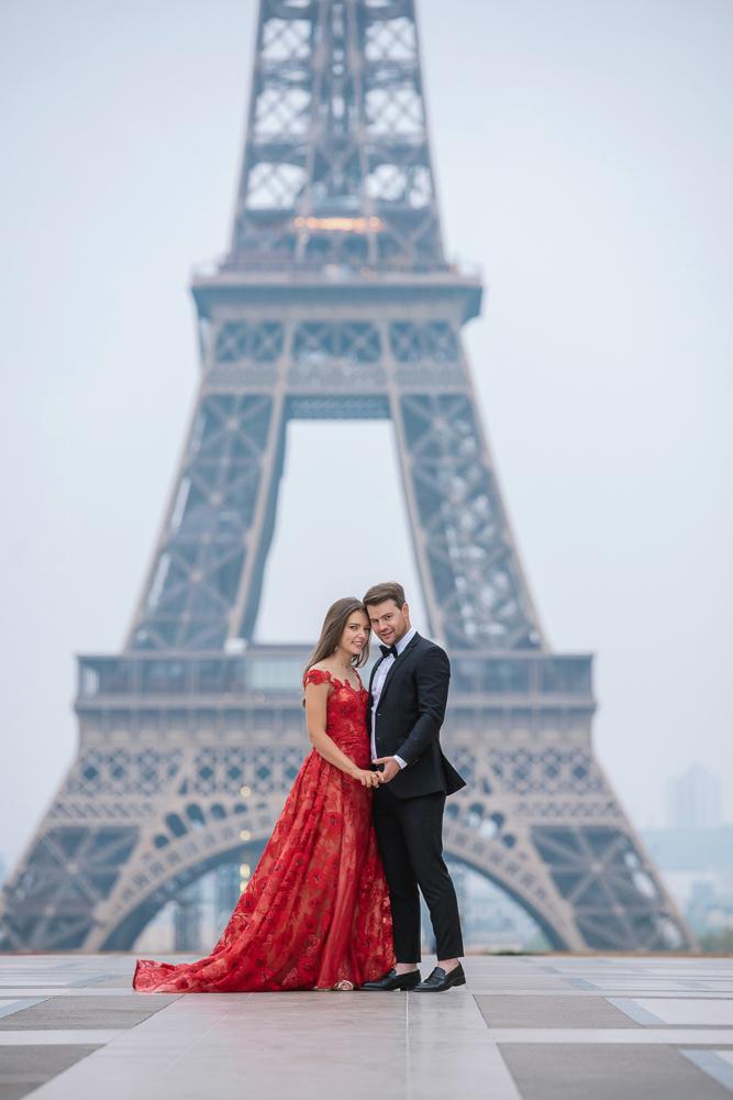 Winter wedding photoshoot in Paris by Pierre 4